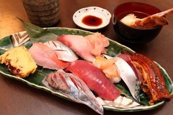 『寿司むさし』の店長のおまかせメニュー