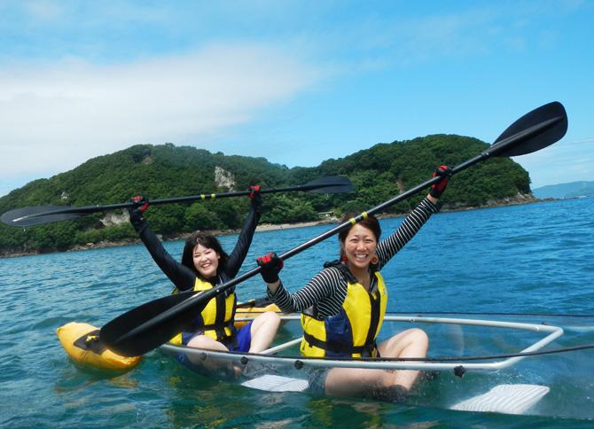 海藻の森シースルーカヤックツアー